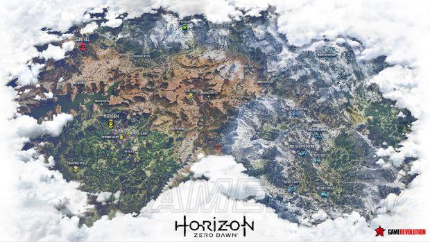 地平线黎明时分世界地图介绍 地平线黎明时分世界地图怎么看