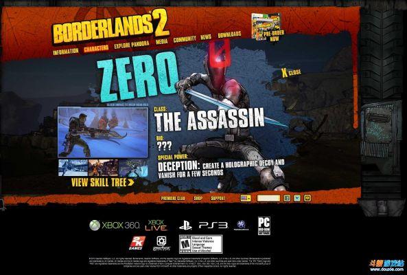 """《无主之地2》ZERO-""""刺客"""