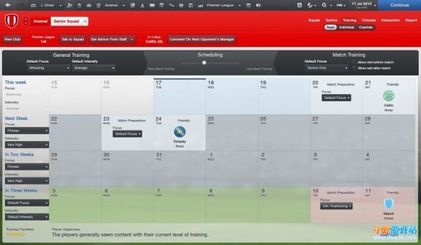 足球经理2013训练系统以及比赛准备的简单向导(翻译)