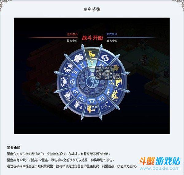 永夜幻想曲星座系统介绍:十二星座星盘全效果