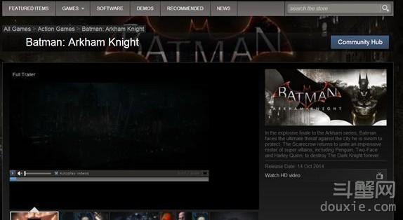 蝙蝠侠阿卡姆骑士10月14日发售详情揭秘