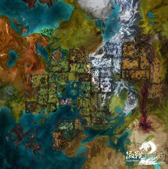 激战2 地图一览 1-80级地图