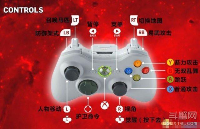 真三国无双7猛将传怎么设置PC版XBOX360手柄按键
