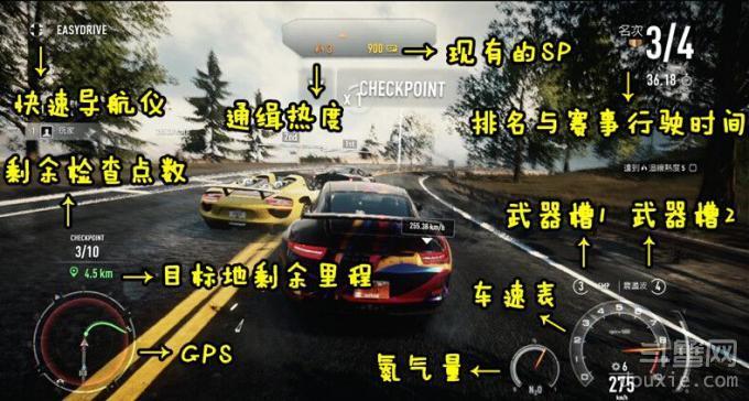 《极品飞车19》怎么玩之汽车仪表盘介绍