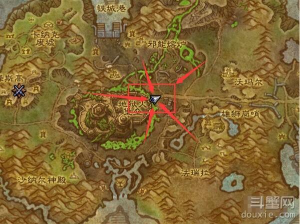 魔兽世界6.2地狱火堡垒从哪进 地狱火堡垒入口位置坐标
