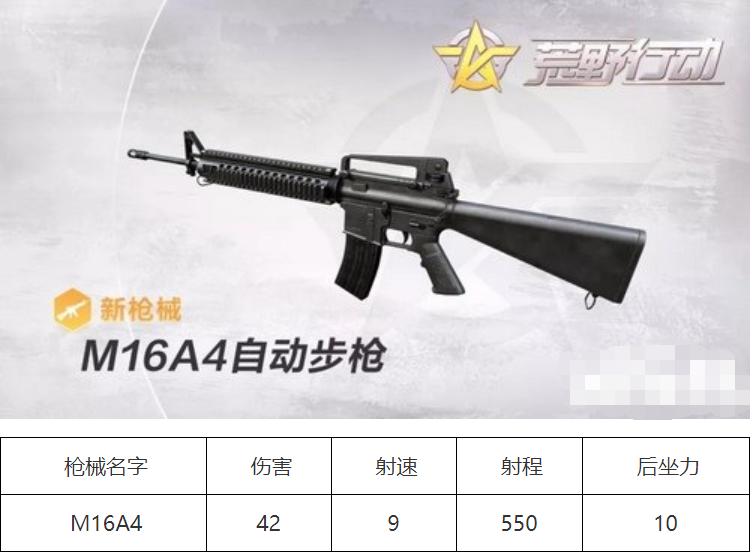 荒野行动M16A4怎么样 荒野行动M16A4属性详解