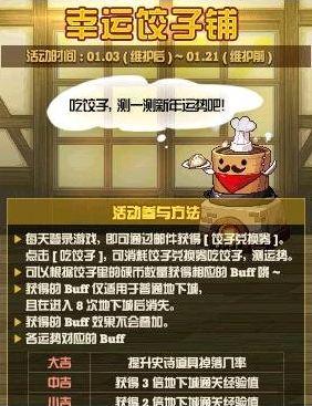 DNF2019幸运饺子铺活动玩法攻略