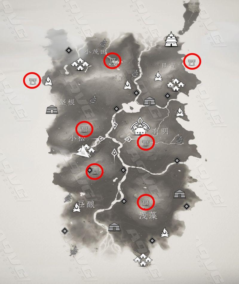 对马岛之鬼全神道神社位置一览