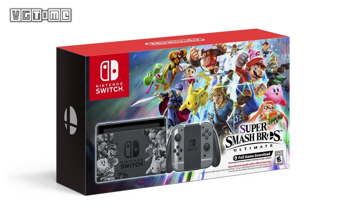 《任天堂明星大乱斗SP》Switch限定主机公布 11月先行发售