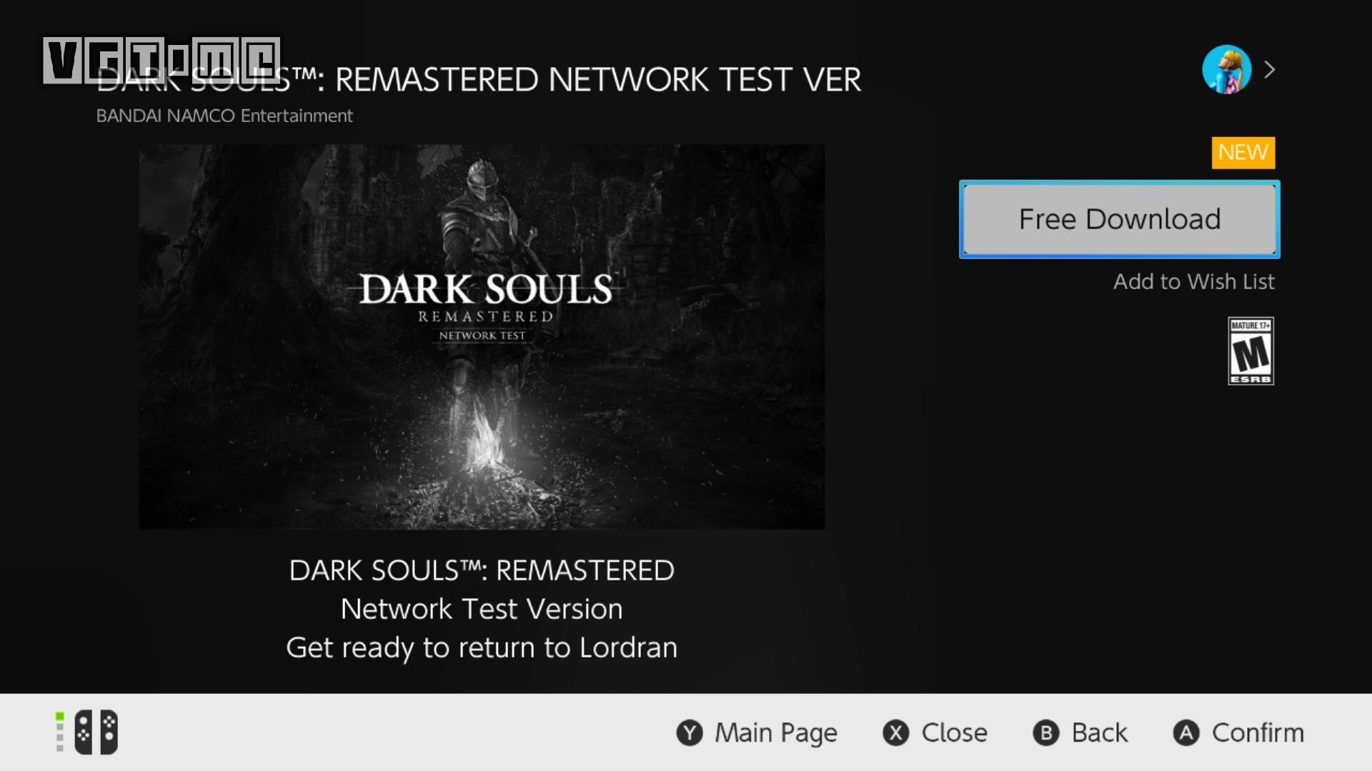 Switch《黑暗之魂 重制版》测试时间公布 预载已开启
