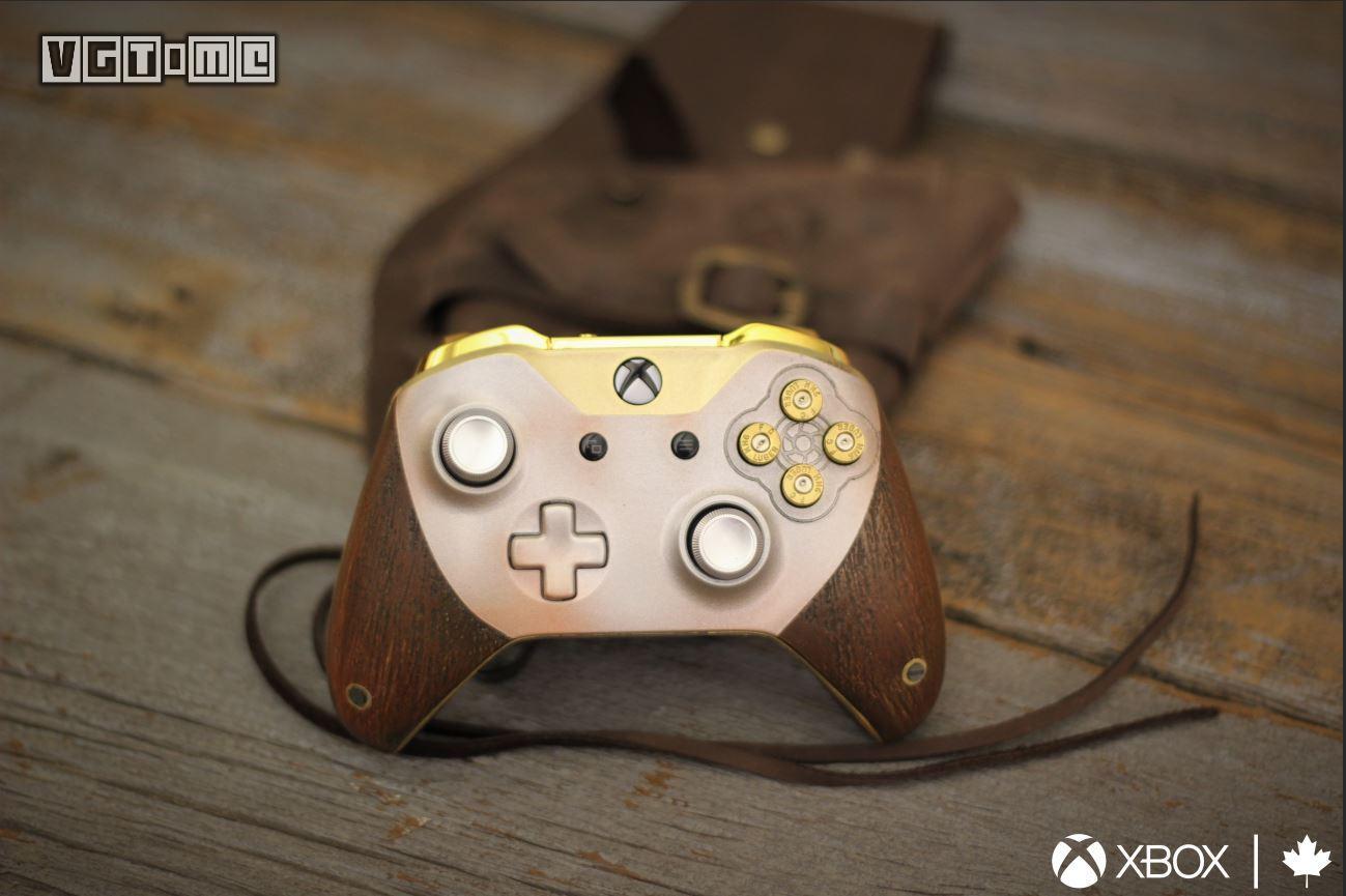 Xbox推出《荒野大镖客 救赎2》限定手柄 木刻质感很棒_荒野大镖客救赎2