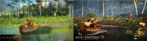 《帝国时代3:决定版》与原版对比新图 水豚更可爱了