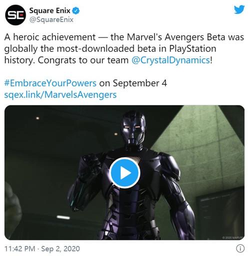 《漫威复仇者联盟》B测版是PS4下载最多测试版游戏